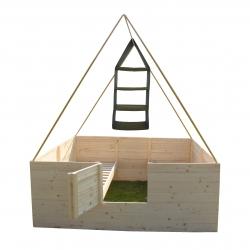 Závěsné úložné police pro stan na podsadu, podsadový stan