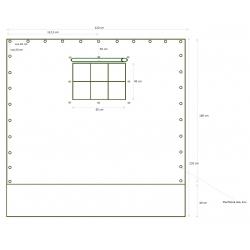 Bočnice, plachta ke stromovým stanům 220 x 180+40 cm