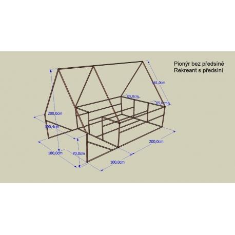 Konstrukce pro stan Pionýr 190 x 200 x 200