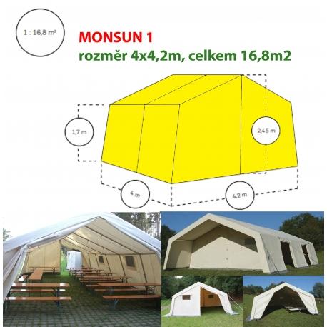 Monsun 1, velkoprostorový stan/hangár - 4x4,2m, Stromeyer