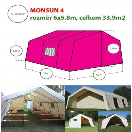 Monsun 4, velkoprostorový stan/hangár - 6x5,8m