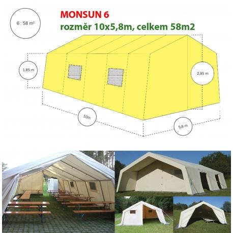 Monsun 6, velkoprostorový stan/hangár - 10x5,8m