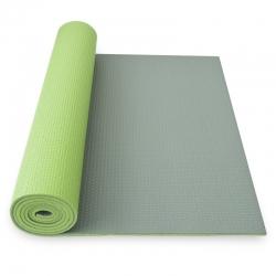 YATE Yoga Mat dvouvrstvá zelená/šedá