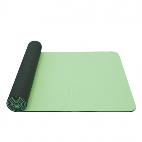 YATE Yoga Mat dvouvrstvá, materiál TPE sv.zelená/tm.zelená