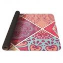 YATE Yoga Mat přírodní guma - vzor A růžová