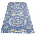 YATE Yoga Mat přírodní guma - vzor B modro/zelená