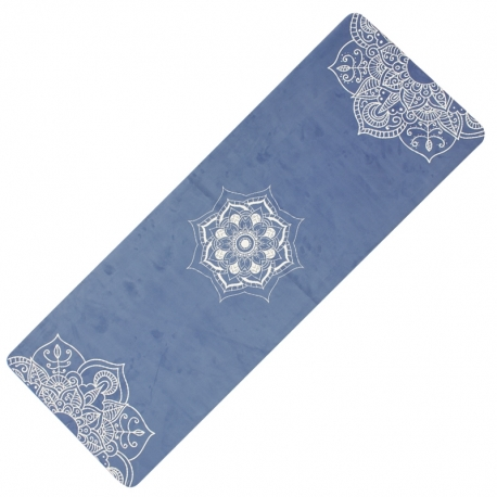 YATE Yoga Mat přírodní guma - vzor C modrá