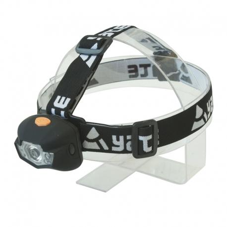 YATE PANTER 3 W CREE+2 LED Čelová lampa černá, běh, turistika, cyklistika