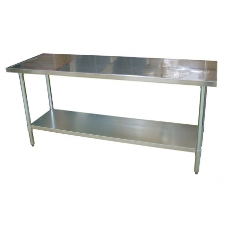 Nerezový stůl 120 x 60-75 / 150 x 60-75 / 180 x 60 cm